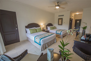 Connecting Deluxe Room - Family Area Accommodations - Memories Splash Punta Cana - All Inclusive